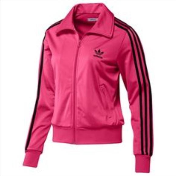 Adidas Firebird Pink Black Mesh Track